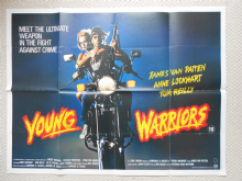 Young Warriors, Original UK Quad Poster, Ernest Borgnine, Motorbike Art! , '83